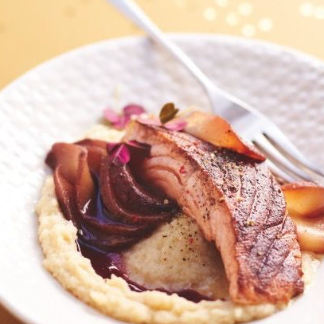 Scaloppine di salmone alla cannella e purè di patate